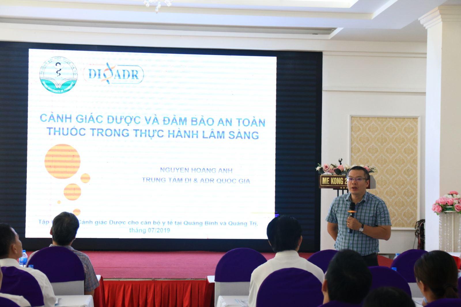 Tập huấn về Cảnh giác Dược và An toàn thuốc cho cán bộ y tế năm 2019 tại Quảng Bình và Quảng Trị