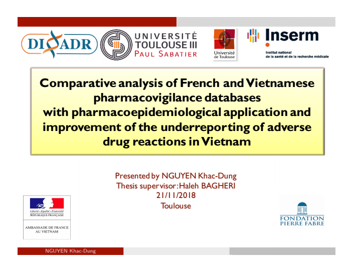 Giới thiệu luận án: Phân tích cơ sở dữ liệu báo cáo ADR tại Việt Nam