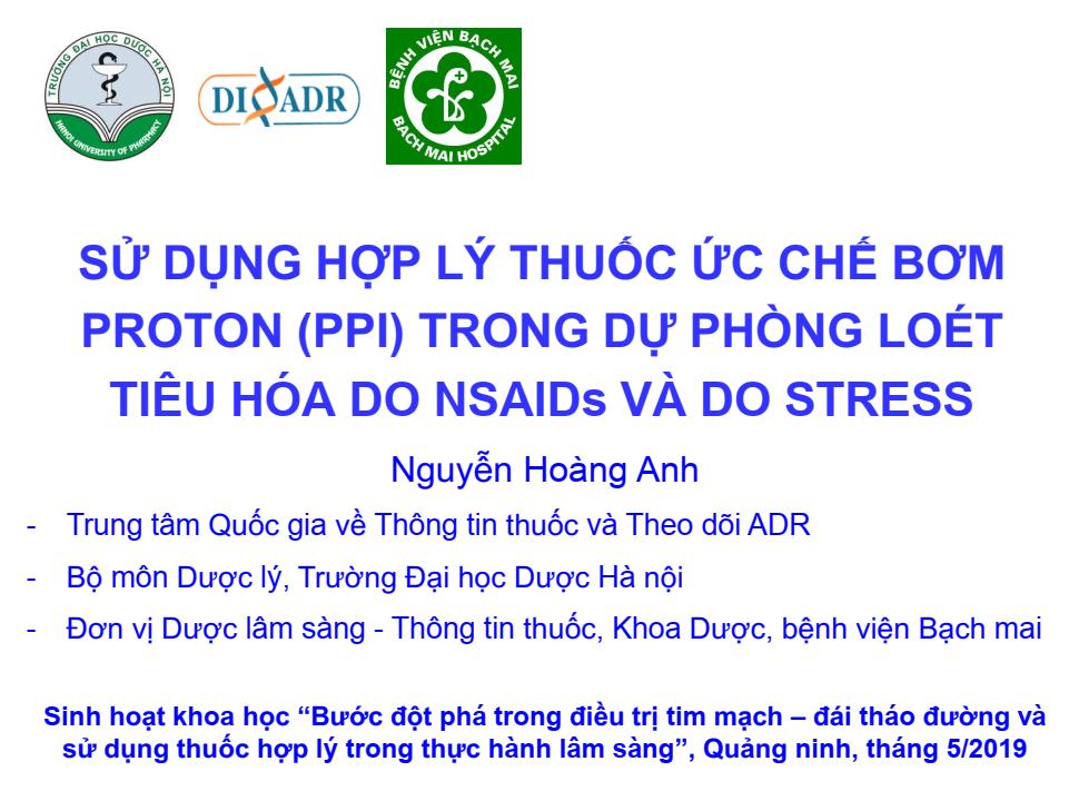 Hội nghị tập huấn công tác dược lâm sàng của Sở Y tế tỉnh Quảng Ninh, ngày 18/5/2019 tại thành phố Hạ Long.