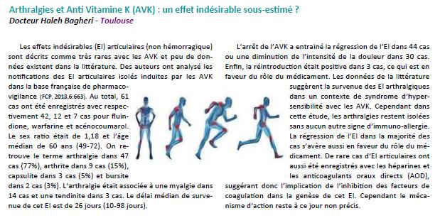 Đau khớp và thuốc chống đông kháng vitamin K - một phản ứng có hại chưa được đánh giá đúng mức?